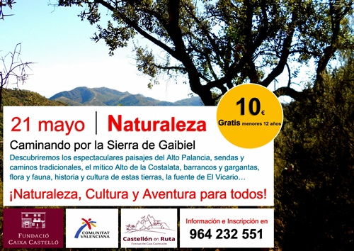 CARTEL Gaibiel naturaleza CASTELLON EN RUTA COMUNIDAD VALENCIANA